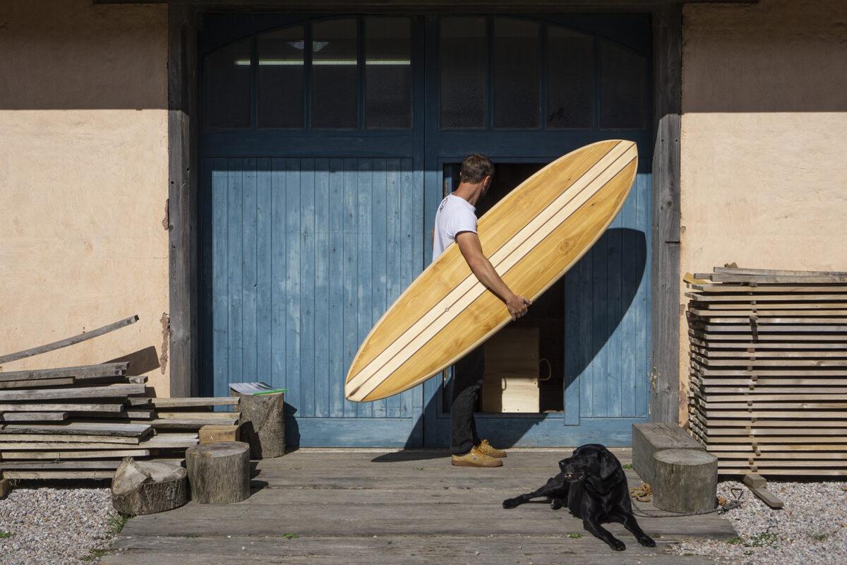 Roller Coaster Wooden Surfboard Otter Workshop
