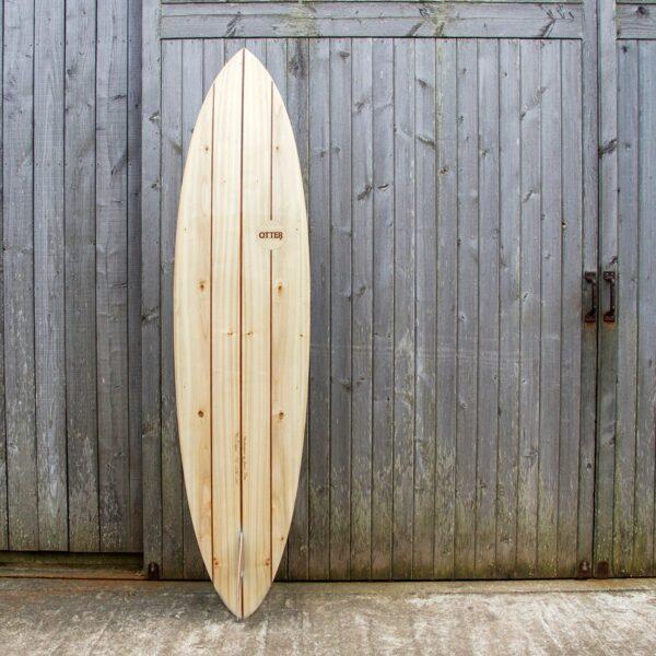 Otter Wooden Surfboard Clipper Single Fin