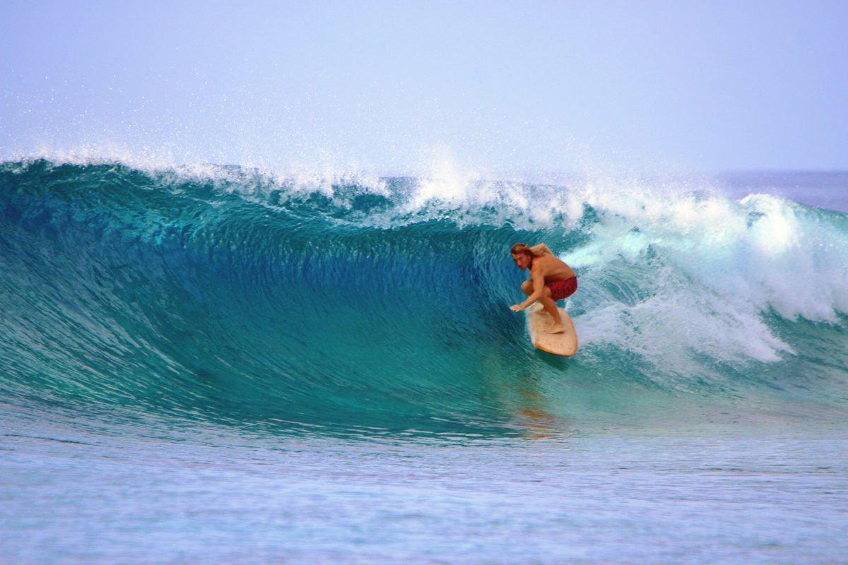 Matt Smith Maldives Barrel From the Boat
