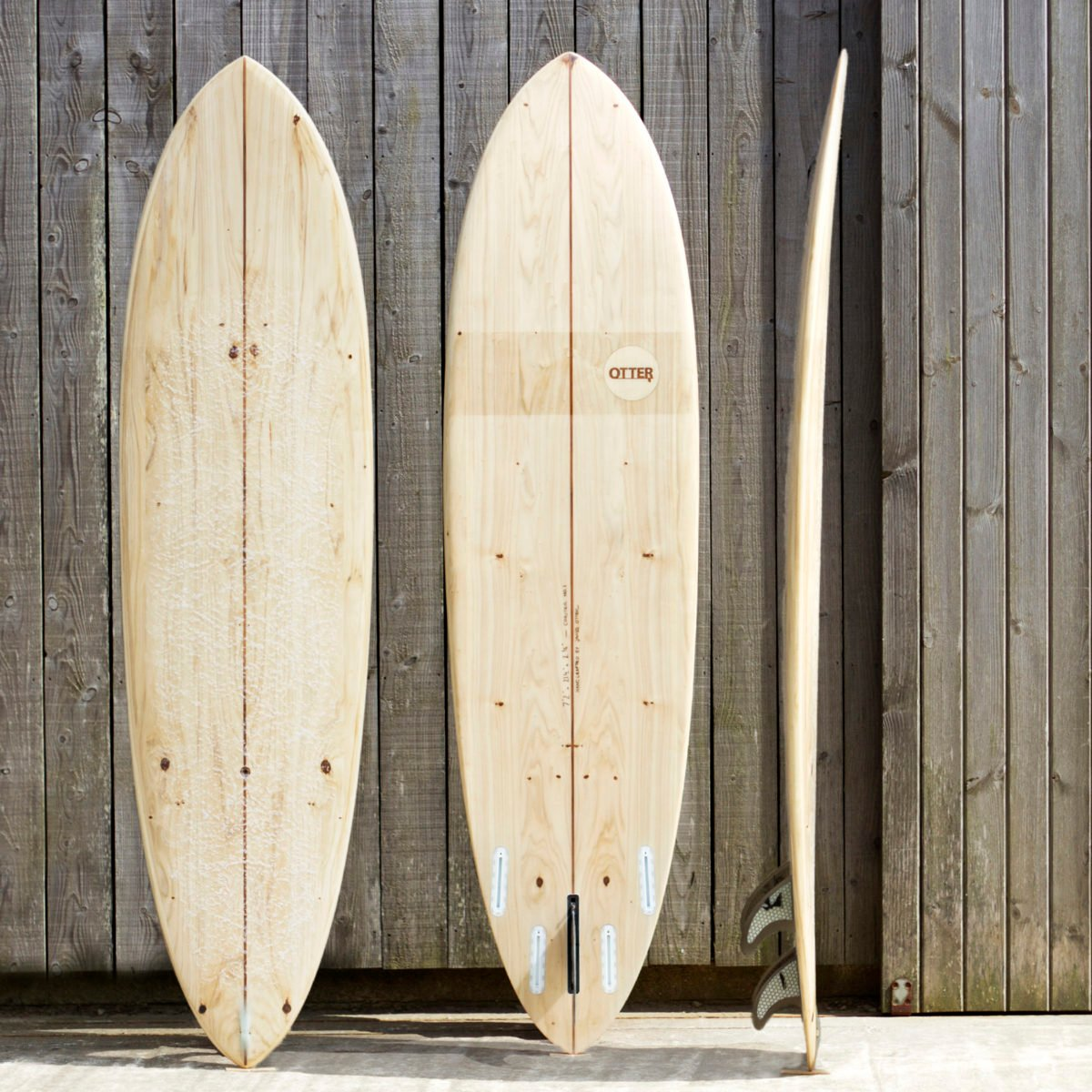 otter wooden surfboard coaster midlength composite product