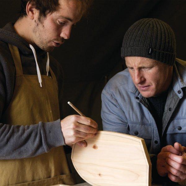 James Otter Surfboards wooden bodysurfing handplane workshop tom kay finisterre