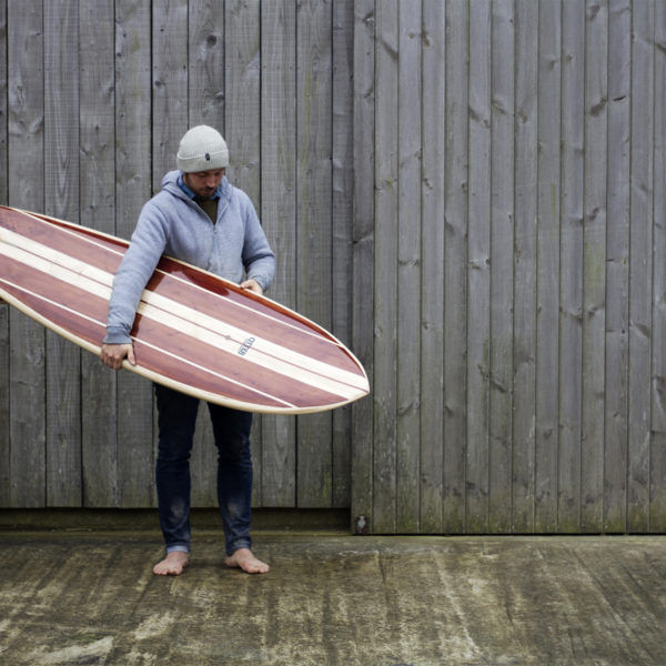 Otter Surfboards wooden fish fetch made from californian redwood and english poplar