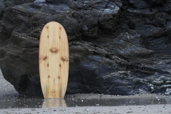 otter wooden surfboard cedar with all cedar deck