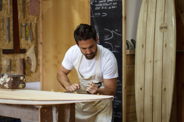 Wooden surfboard workshop Cornwall