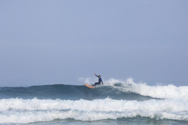 Chris Brunt Top turns the otter surfboards wooden Pieces of Eight at Perranporth
