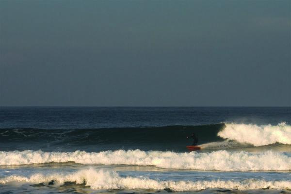 James Otter fetch wooden surfboard bottom turn