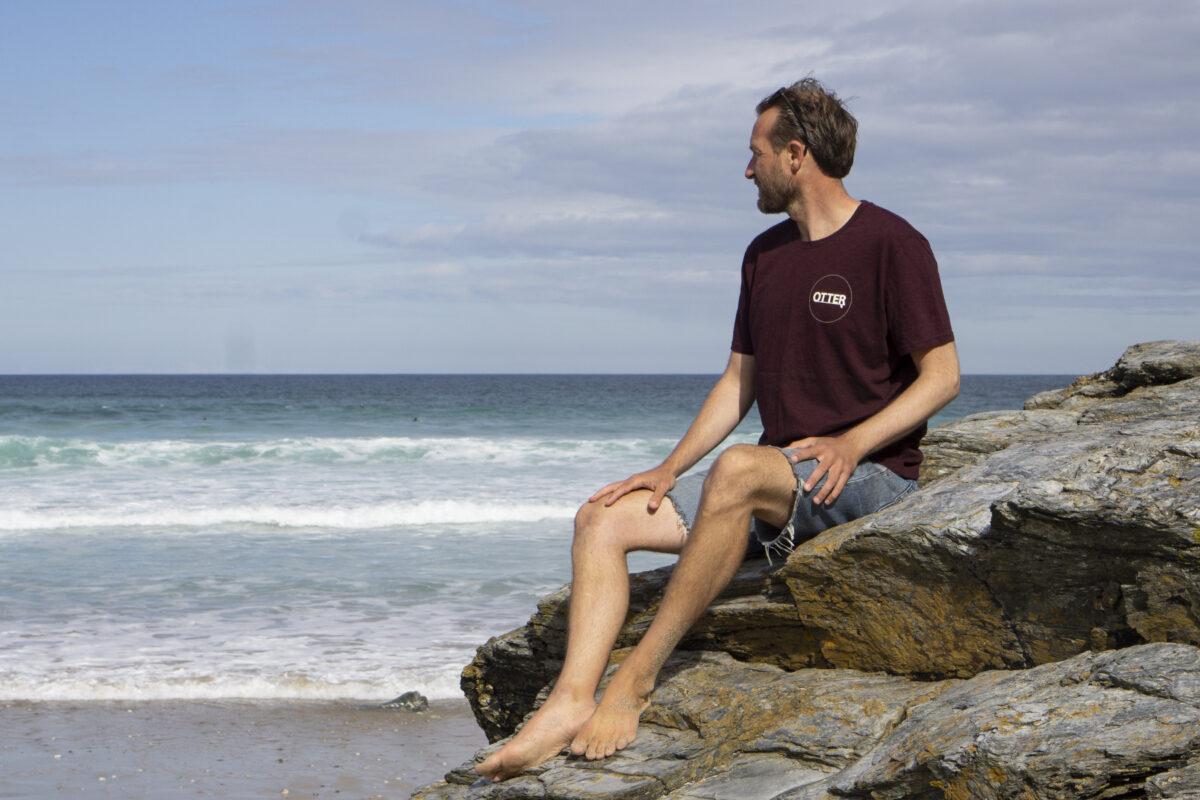 Grape Red Otter Surfboards T-shirt3