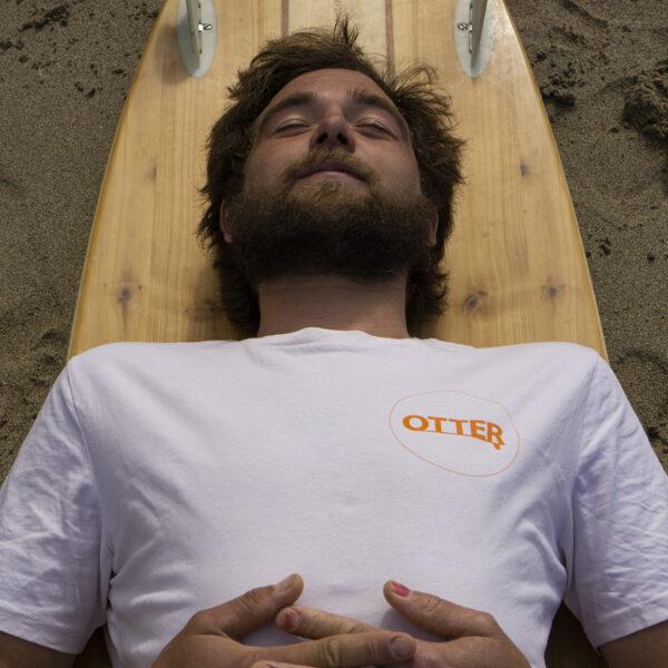 White Otter Surfboards T-shirt Laydown