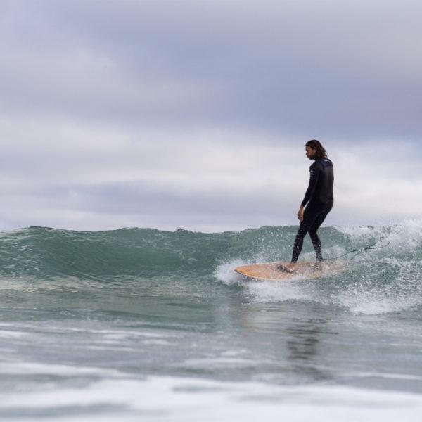 larry lawrence stafford surfing wooden surfboard finisterre st agnes woodburner
