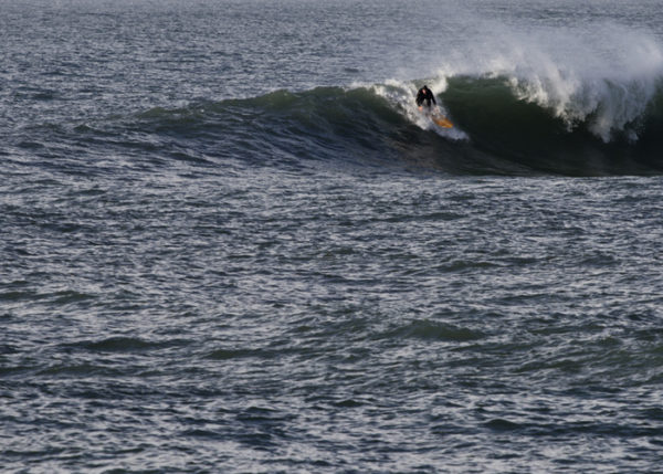 James Otter Wooden surfboard Jetty drop