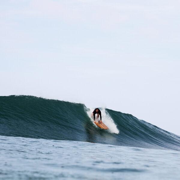 James Otter Riz Boardshorts Wooden Surfboard Seasaw Longboard drop