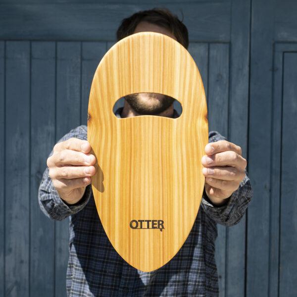 otter wooden handplane pebble cedar hole bottom