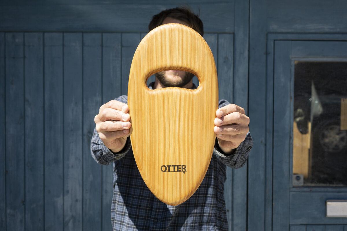 otter wooden handplane pebble cedar hole top