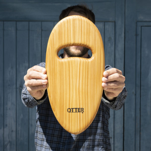 otter wooden handplane pebble cedar hole top