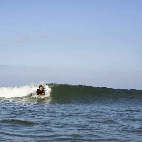 Chris otter surfboards wooden bellyboard peeler1
